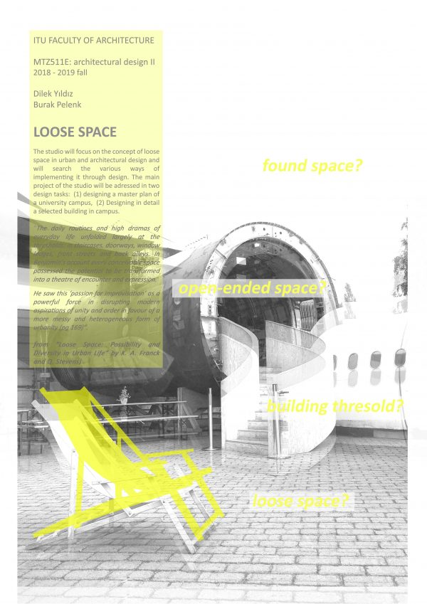 """2018-2019 Academic Year Architectural Design II: """"Loose Space"""""""